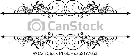 Ornamental clipart banner Ornamental Vector design beauty ornamental