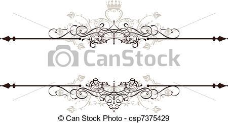 Ornamental clipart banner Ornamental  Vector decorative of