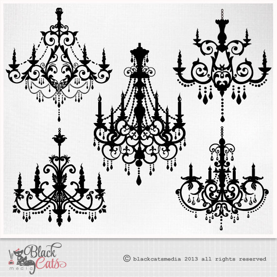 Chandelier clipart hand drawn PSD ornamental clipart Clipart PNG
