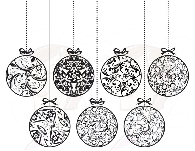 Decoration clipart black and white White elegant and white and