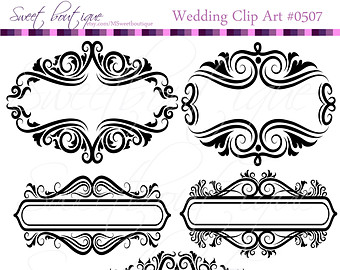 Ornamental clipart classic Flourish Border Floral GOLD Ornaments