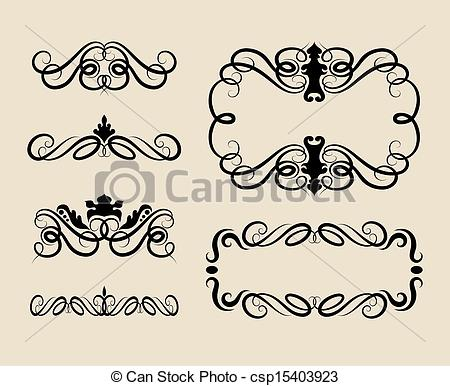Curl clipart decoration Smooth and  Vector Decorations