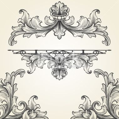 Art Vector Illustration Engraving Set