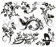 Ornamental clipart graphic design Ornamental scroll designs vector vinyl