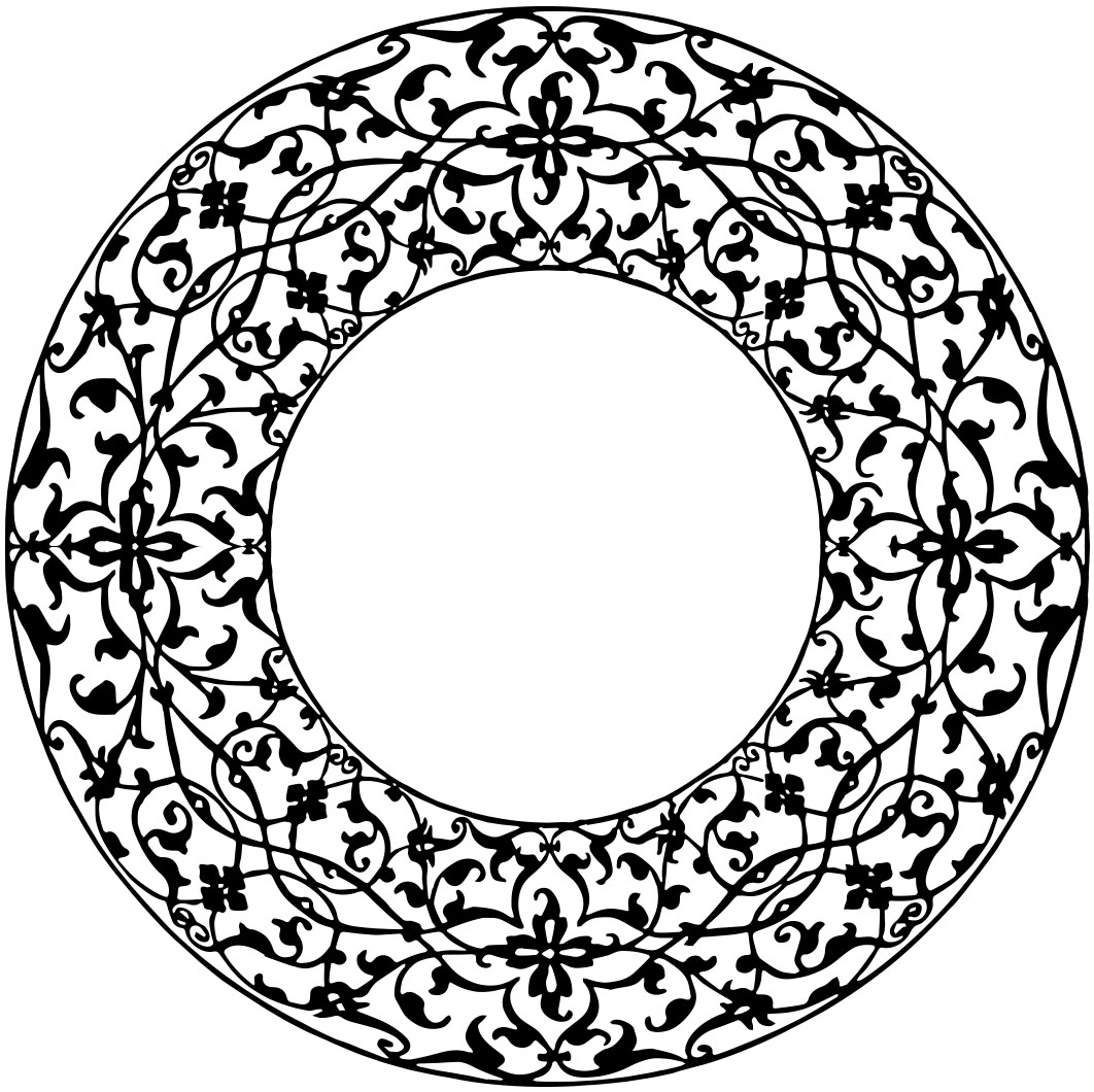 Circle clipart vintage Studio  Clipart Borders and