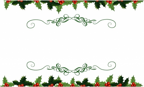 Holley clipart top border And vector 933 (11 Bottom