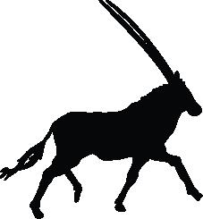Oryx clipart Oryx Oryx Oryx Silhouette of
