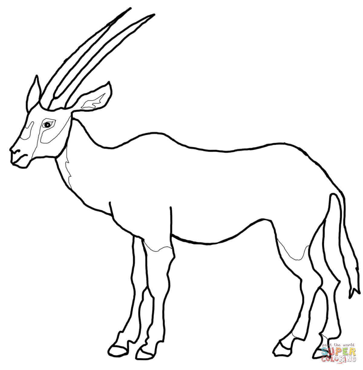 Oryx clipart Oryx Pages Arabian Coloring coloring