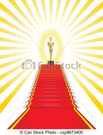 Oscar clipart prize A Award statuette red of