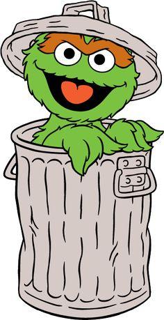 Trash clipart oscar the grouch Para oscar de grouch Street/Abby