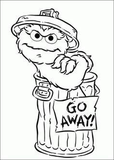 Trash clipart oscar the grouch Oscar the Oscar Coloring Sesame