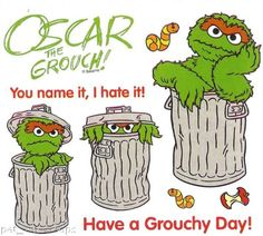 Oscar The Grouch clipart head Search the grouch Grouch!! stencil