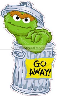 Oscar The Grouch clipart head And Sticker Street You Character
