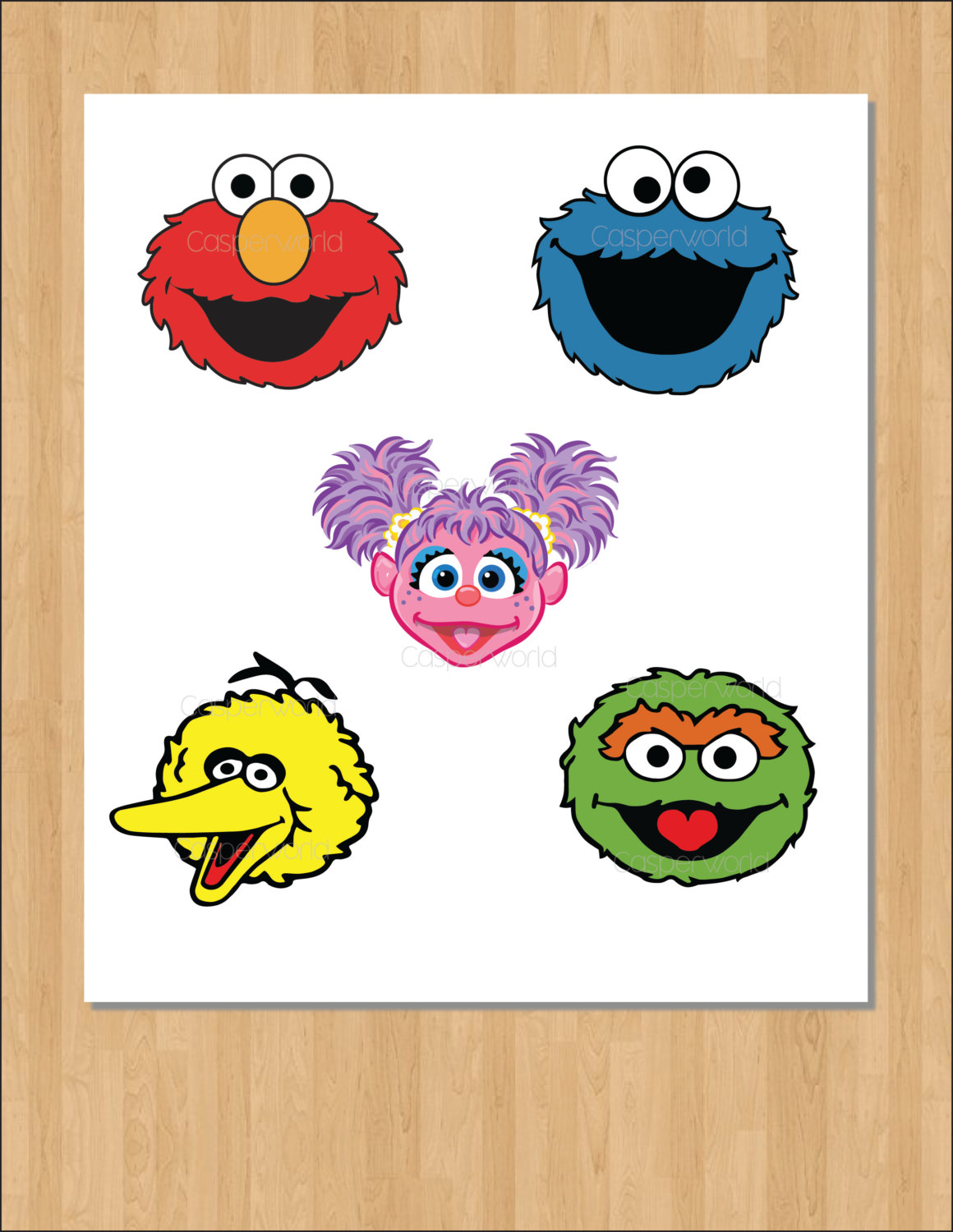 Sesam Street clipart photo booth prop Street characters Sesame elmo birthday