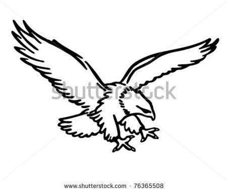 Simple clipart hawk #6