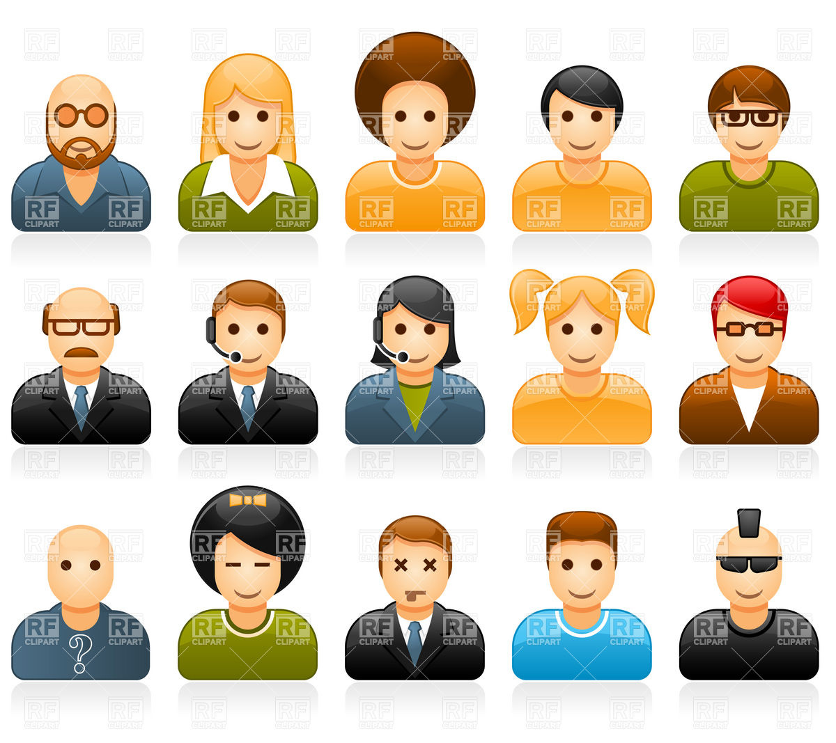 Other clipart different person Different kinds clipart  people