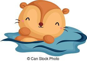 Otter clipart Vector Art  and clipart