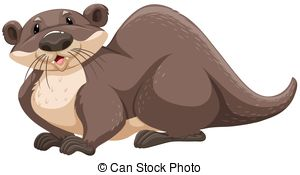 Brown clipart otter Otter on Otter vector Brown