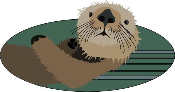 Sea Otter clipart Otter vector Open art svg