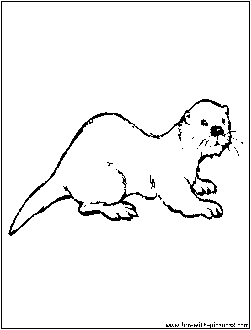 Otter clipart drawn Sea Art Pages Black Library