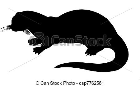 Otter clipart drawn Silhouette backgrou silhouette backgrou silhouette