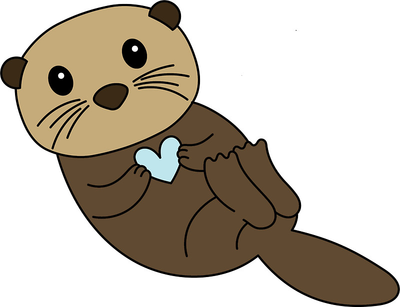 Brown clipart otter & Redbubble Gifts  Otter: