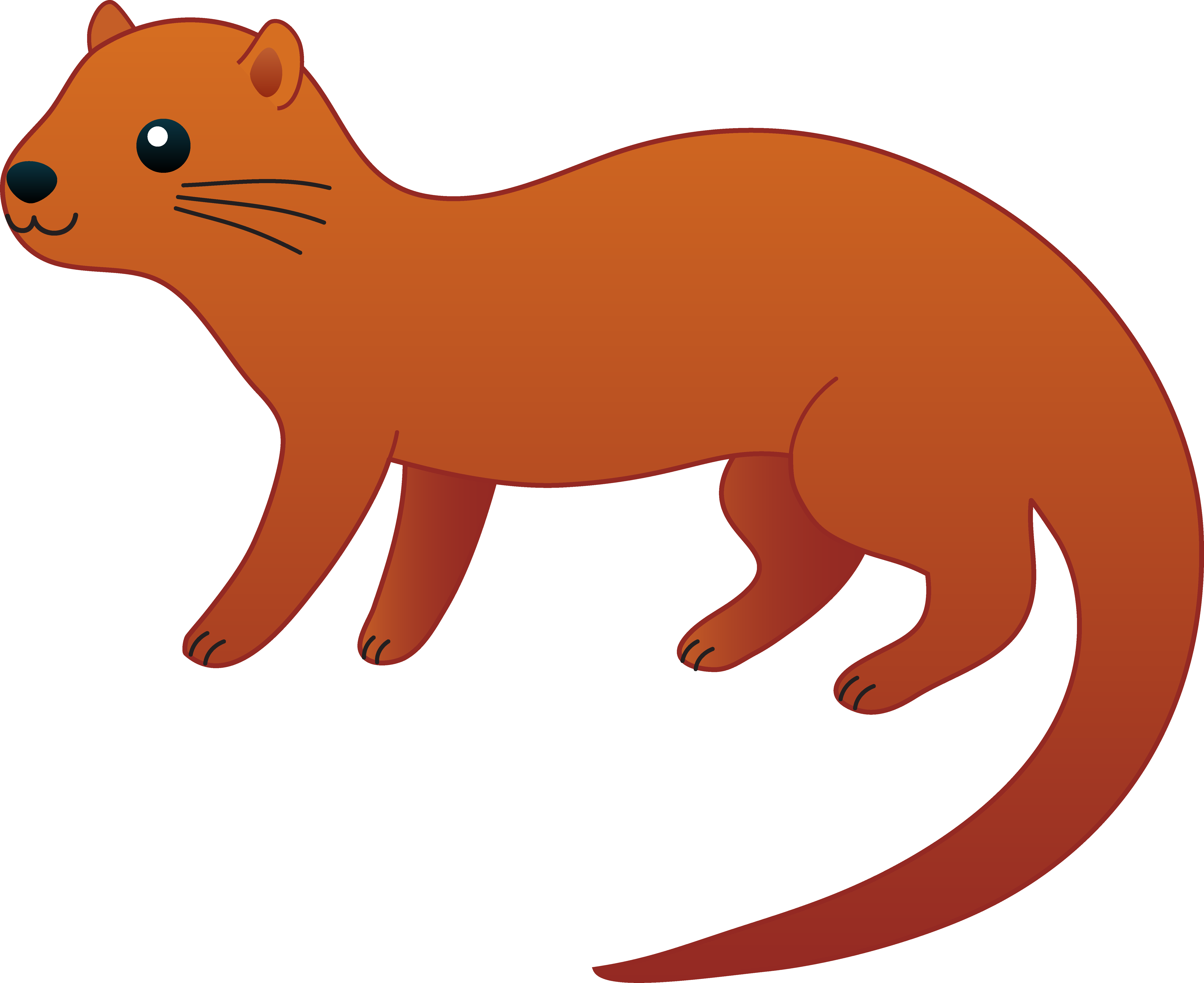 Brown clipart otter White Otter Clipart Orange Inspiration