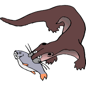 Otter clipart vector Png with with free cliparts