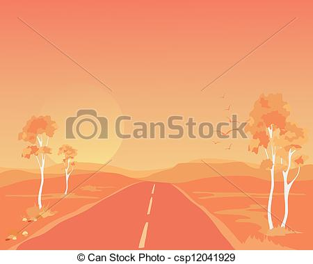 Outback clipart kangaroo Vector an  outback of