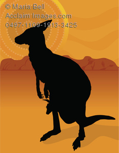 Outback clipart kangaroo Kangaroo In Outback on Joey