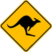 Outback clipart Art Kangaroo Outback Royalty Sign