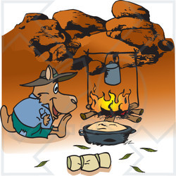 Outback clipart Cooking Illustration Camping Free