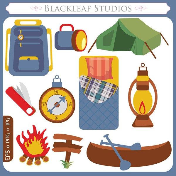 Camper clipart camping gear Clipart Free Adventure  Download