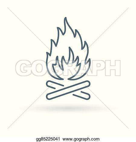 Outdoor clipart bonfire Icon  Vector Wood fire