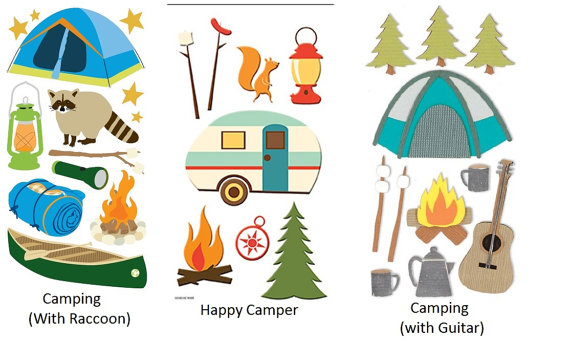 Outdoor clipart bonfire Etsy Scrapbook Stickers Campfire Stickers