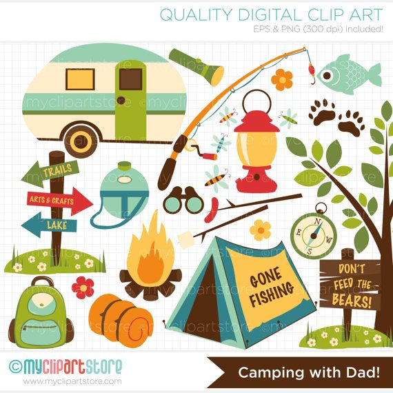 Outdoor clipart camper Dad Theme Outdoors best Art