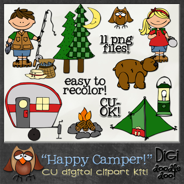 Outdoor clipart camper Cliparts Clipart Camper Happy Camper