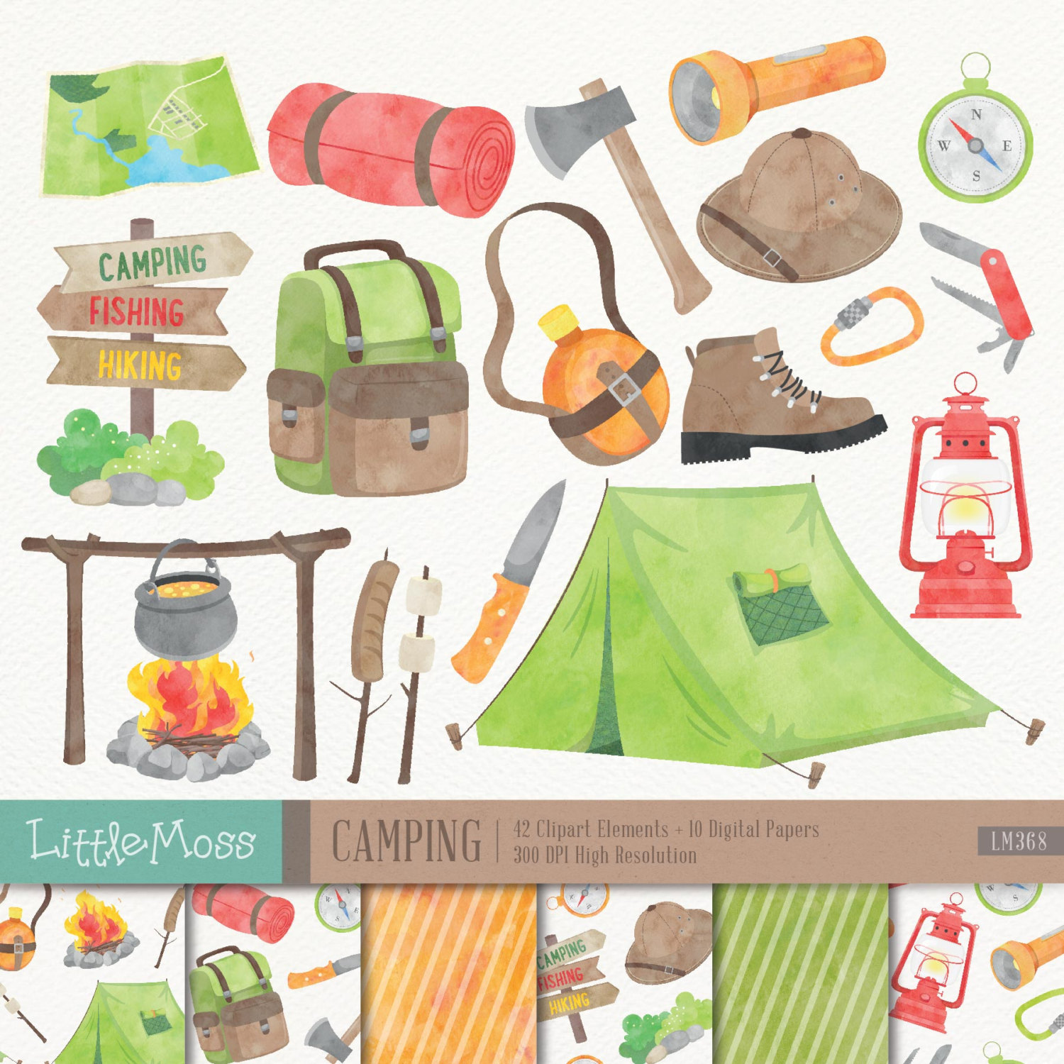 Outdoor clipart camper Clipart Campfire Camping Camping Clipart