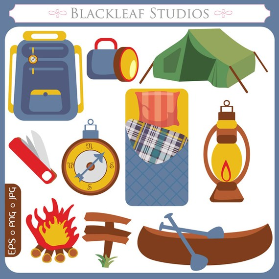 Outdoor clipart camper  camping Clip bag Commercial
