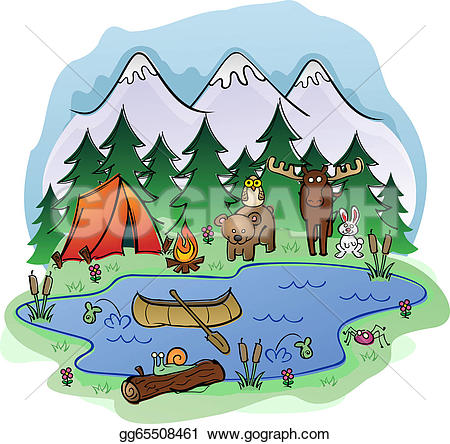 Outdoor clipart campground With tools Animal Frien Royalty