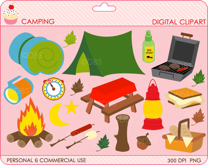 Camping clipart woods Digital 2 camping outside GET