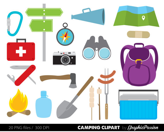 Campfire clipart outdoor adventure Clipart Personal Commerical Camping Camping