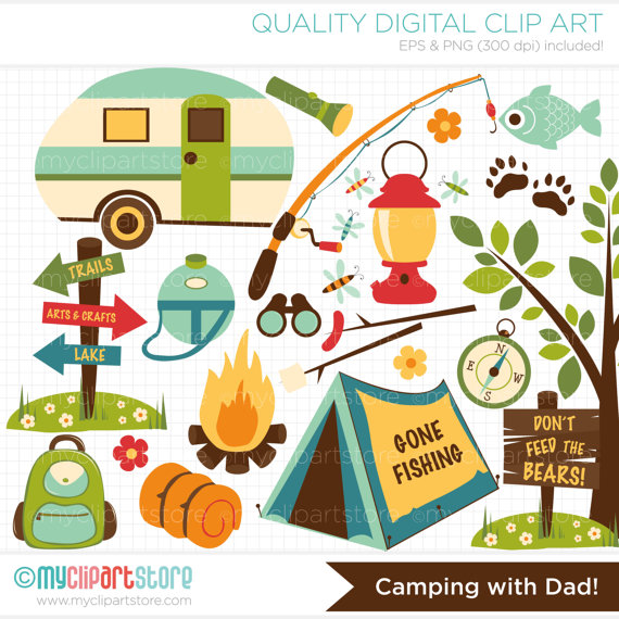 Outdoor clipart camping gear Rod Clipart Camping fishing rod