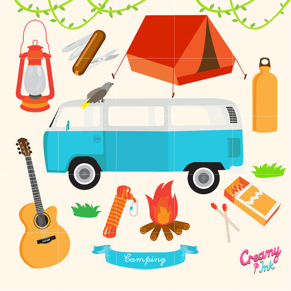 Outdoor clipart camping gear Download Digital Camping Clip Outdoor