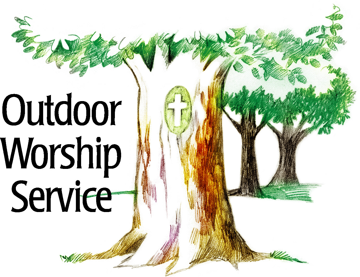 Outdoor clipart church service Church News Church of Moravian