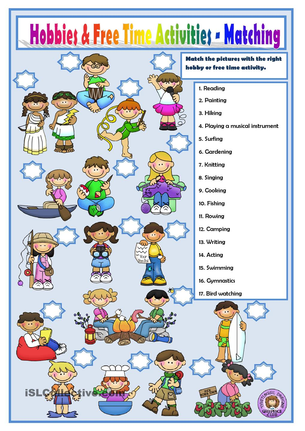 Outdoor clipart free time activity Crossword Time Activities Free ACTIVITIES