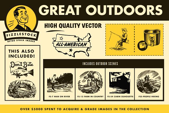 Outdoor clipart great outdoors Real Art Illustrations ~ Outdoors