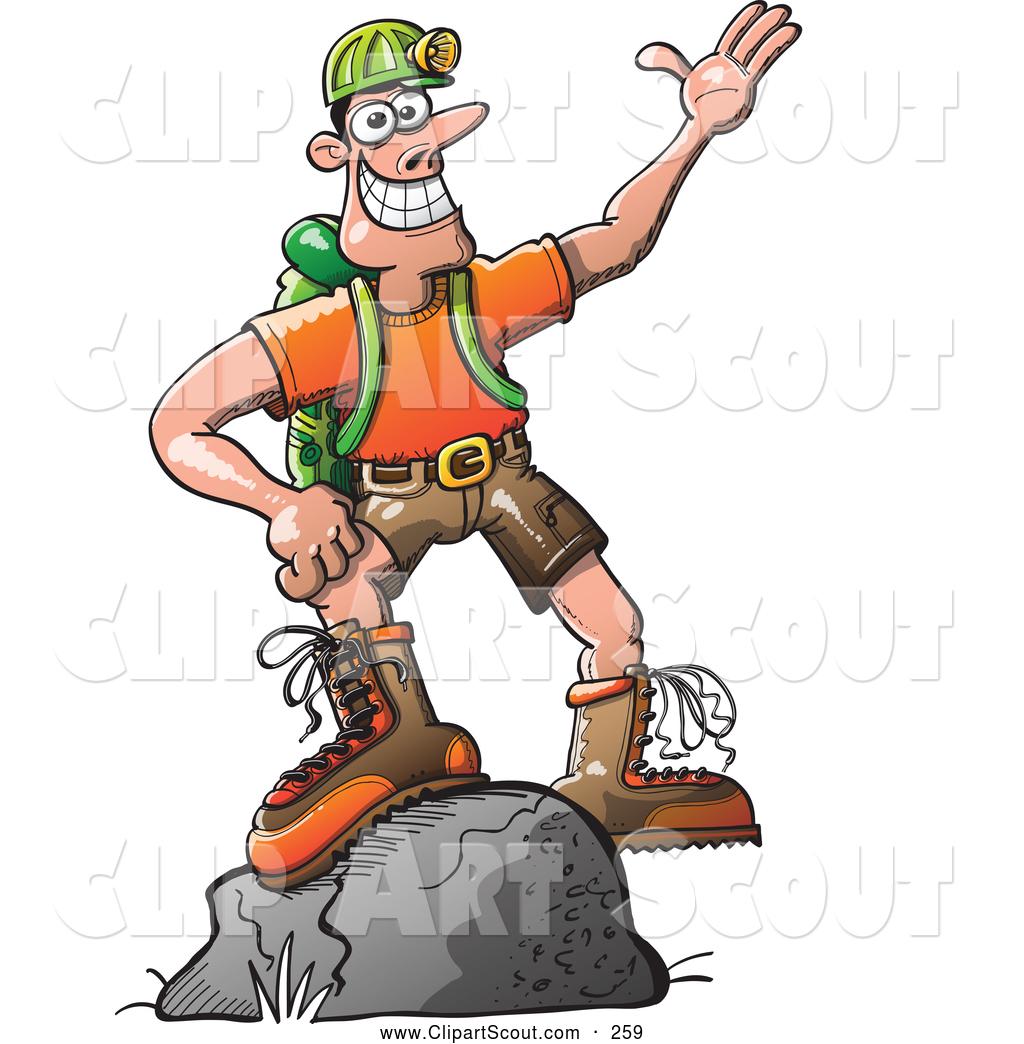 Outdoor clipart hiker Boulder Man Stock on a