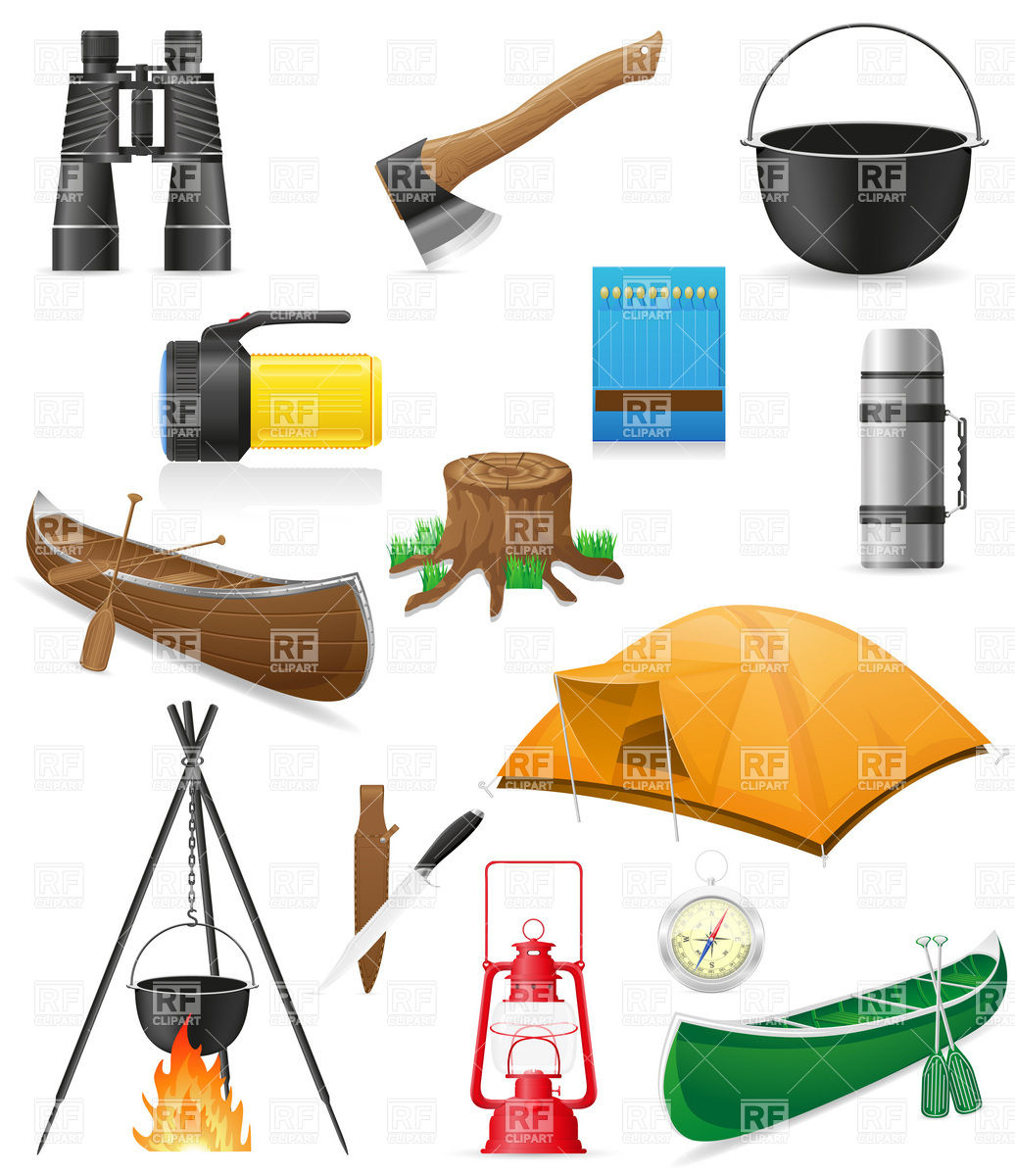 Hiking clipart camping gear Outdoor And Hiking Equipment Hiking