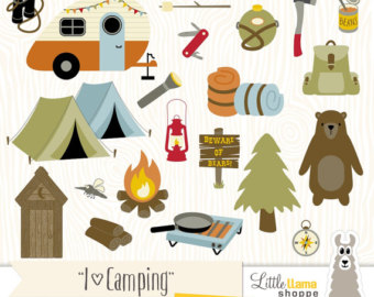Camper clipart campfire Clip Hiking Clipart Clipart Camping